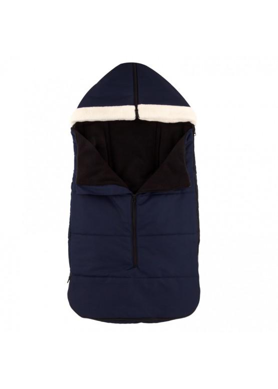 Теплый зимний конверт в коляску Holodryga Blue-Black