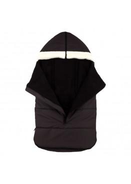 Теплий зимовий конверт в дитячий візок Coo Coo Holodryga Graphite-Black