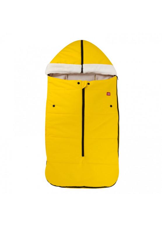 Теплый зимний конверт в коляску Holodryga Yellow-White