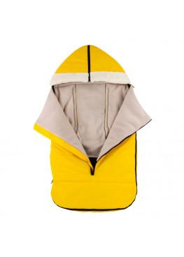 Теплый зимний конверт в коляску Coo Coo Holodryga Yellow-White