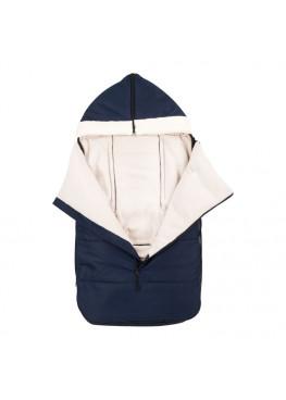 Теплий зимовий конверт в дитячий візок Coo Coo Holodryga Blue-White