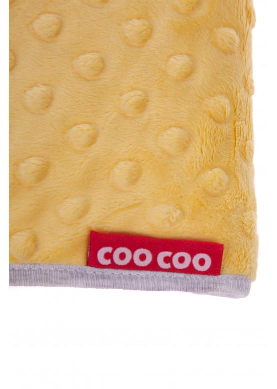 Теплый плед Coo Coo 75х100 см лимонный