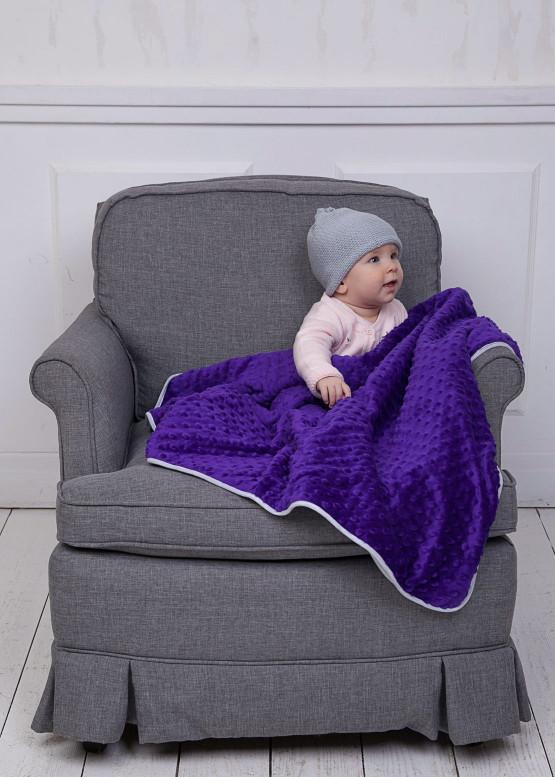 Тепла ковдра Coo Coo 75х100 см пурпурова
